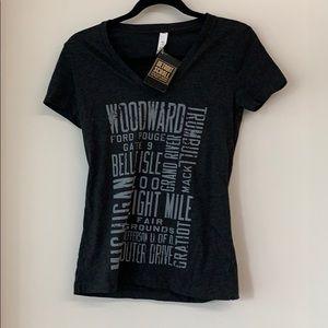 Detroit Scroll Shirt Women's M NWT Michigan